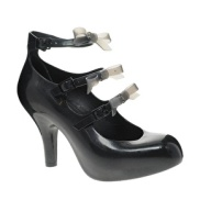 Vivienne Westwood for Melissa 3 Strap Elevated Bow Court Shoes