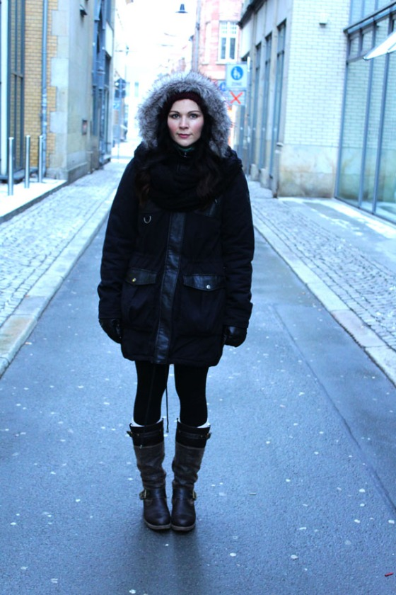 outfit-ootd-winter-2012-2013-shoses-boots-remonte-dorndorf-jacke-mantel-schal-scarf-mütze-kunstfell-vero-moda