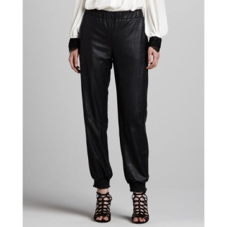Leather sweatpants by alice + olivia